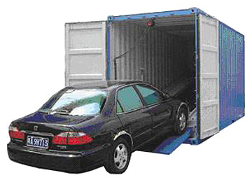 car shipping in container