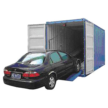 Car shipped in container